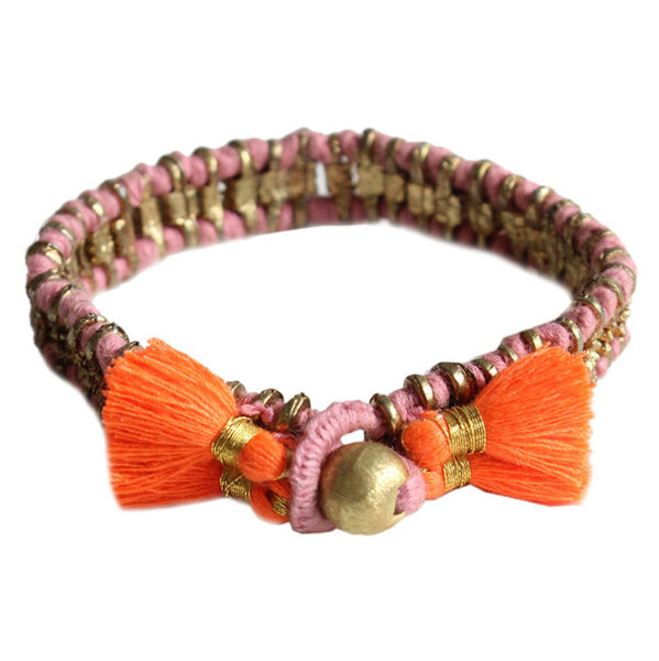Rose and Orange Cala Bracelet