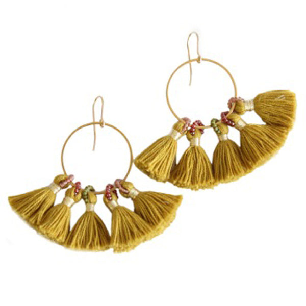 BLUMA PROJECT, Gold Tassel Shiloh Earring
