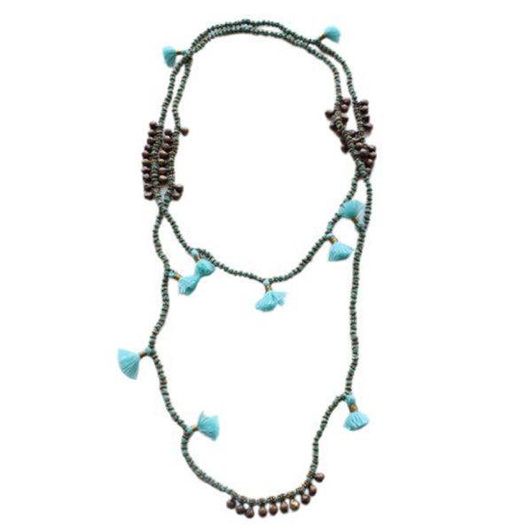 Sky Tassel Farah Necklace