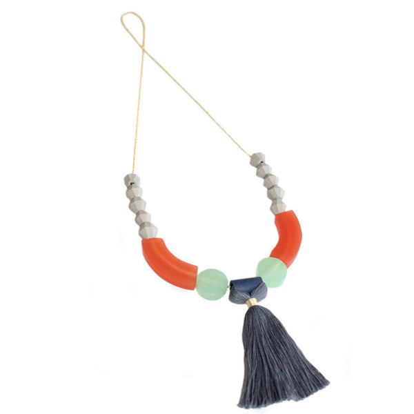 Orange Maizy Necklace