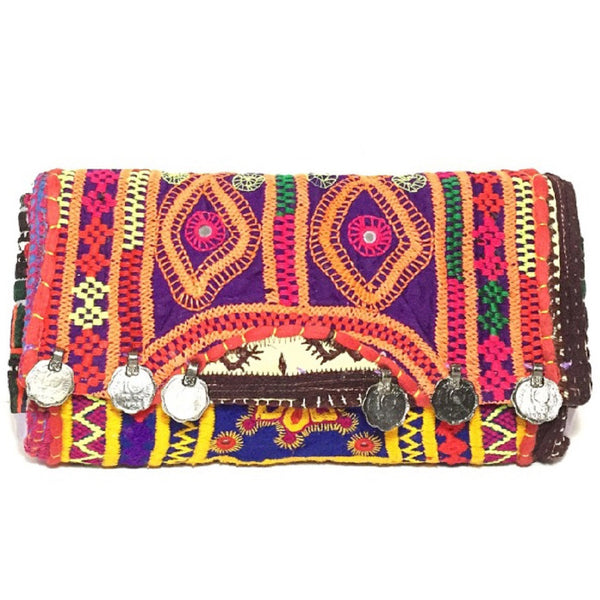 Purple and Pink Festival Clutch