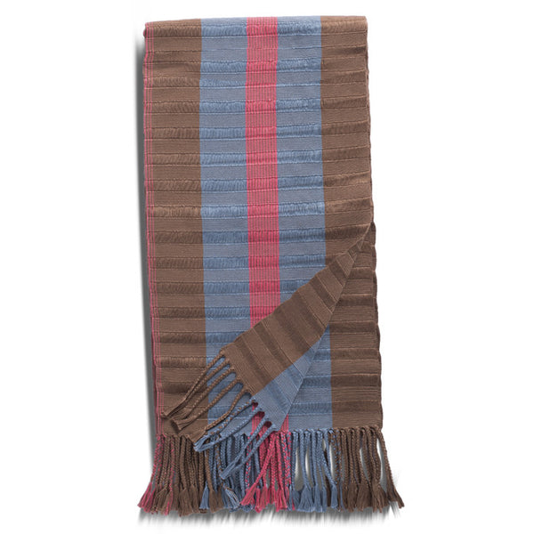 Blue, Orange and Beige Cotton Rebozo