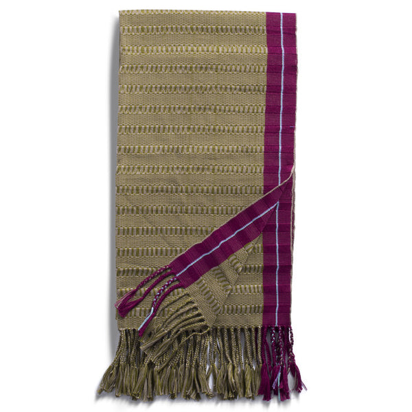 Cherry, Cream and Beige Cotton Rebozo