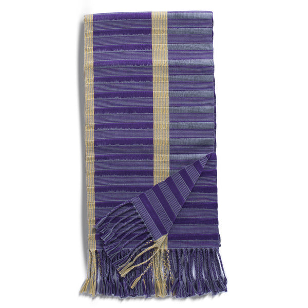 Purple, Grey and Cream Cotton Rebozo