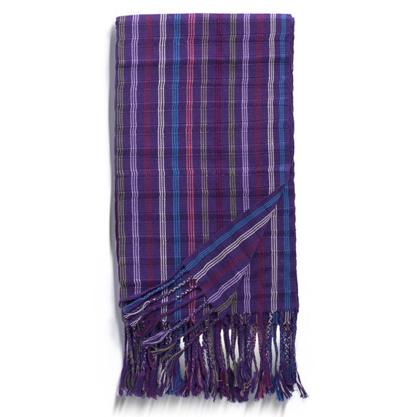 FEBRICA SOCIAL, Multi Cotton Striped Rebozo