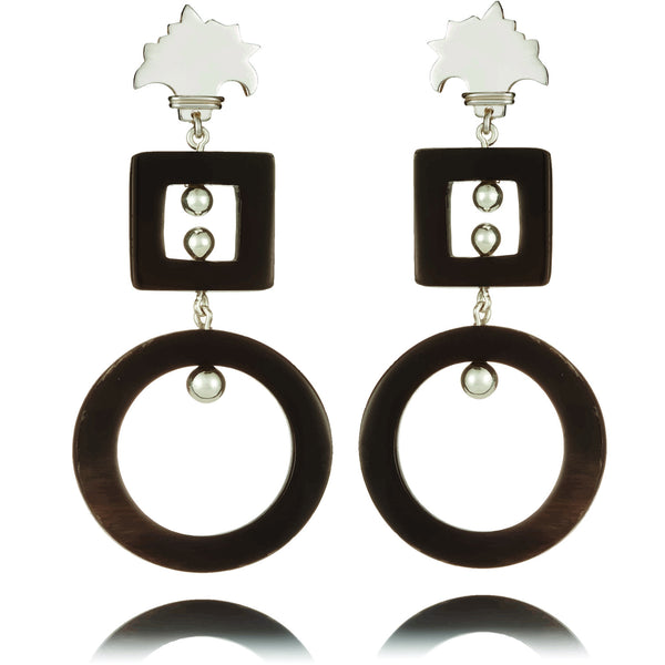 Black Kiki Palm Earring
