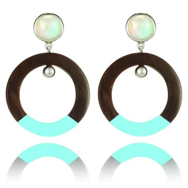 Light Blue Enamel Lea Earring
