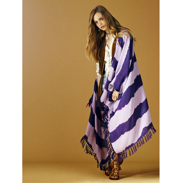 Lavender and Purple Ch'op Poncho