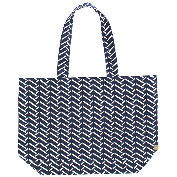 Indigo Hand-dyed Cotton Chopsticks Tote Bag