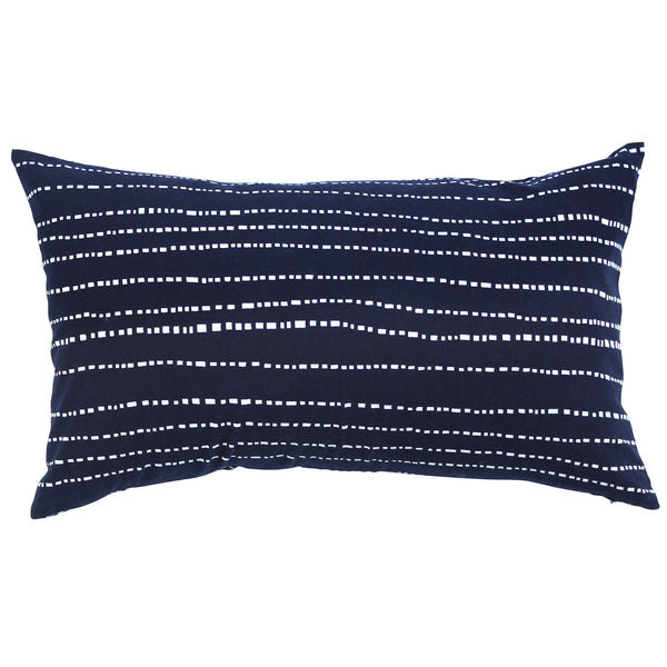 Indigo Hand-dyed Cotton Babyteeth Pillow