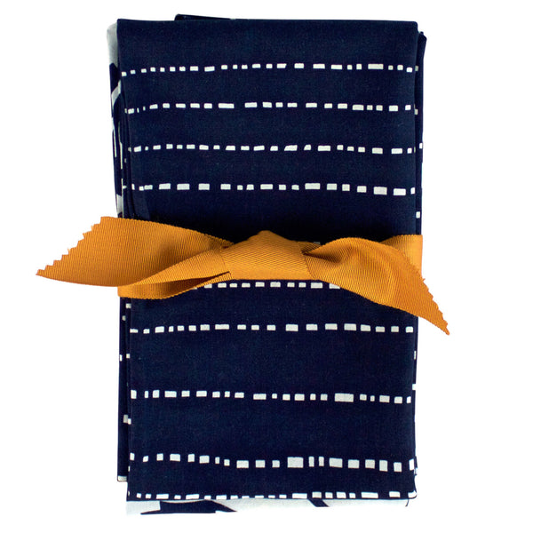 Indigo Hand-dyed Cotton Bowl and Babyteeth Tea Towel Set
