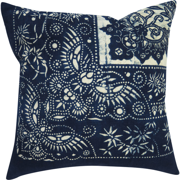 Vintage Indigo Cotton Wrapping Cloth Pillow