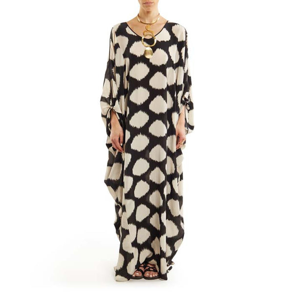 Georgette Cold Shoulder Caftan