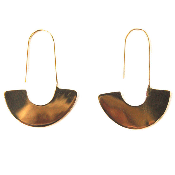 MEYELO, Brass Adisa Earrings