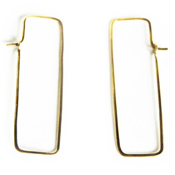Brass Chiku Earrings
