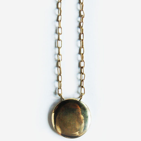 Brass Circle Pendant Necklace