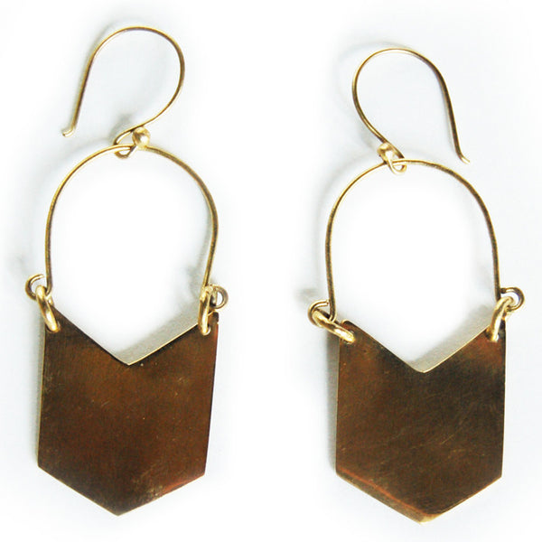 MEYELO, Brass Dumi Earrings
