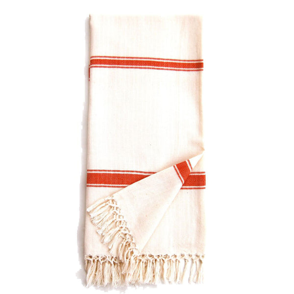 Burnt Orange Cotton Cream Eshe Kikoy Scarf