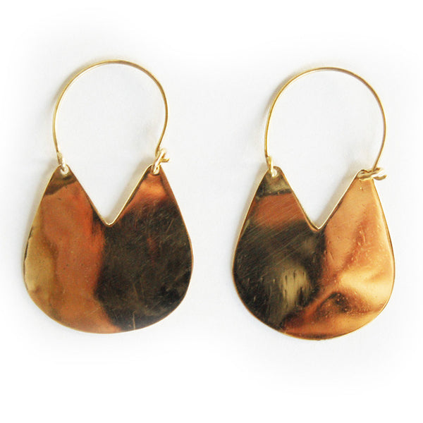 Brass Jengo Earrings