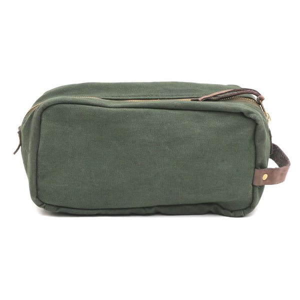 Green Canvas Mara Wash Bag
