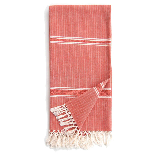 Burnt Orange Cotton Solid Eshe Kikoy Scarf