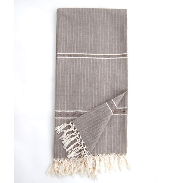 Heather Grey Cotton Solid Eshe Kikoy Scarf
