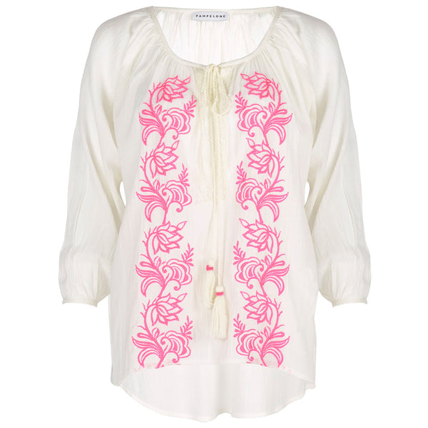 Embroidered Cotton Bou Bou Blouse