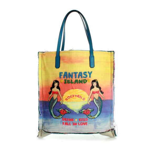 Fantasy Island Embroidered Tote