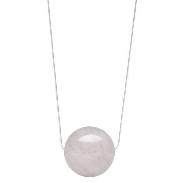 Light Pink Rose Quartz Pendant Necklace