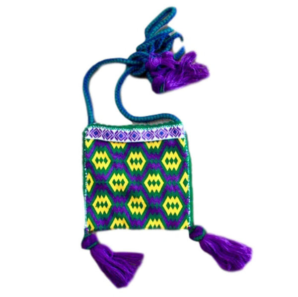 Multicolor Ceremonial Huichol Bag