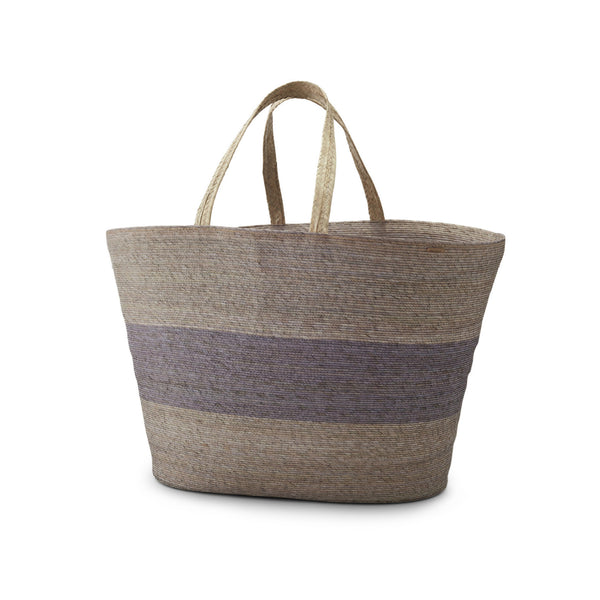 Light Grey Stripe Carry Basket