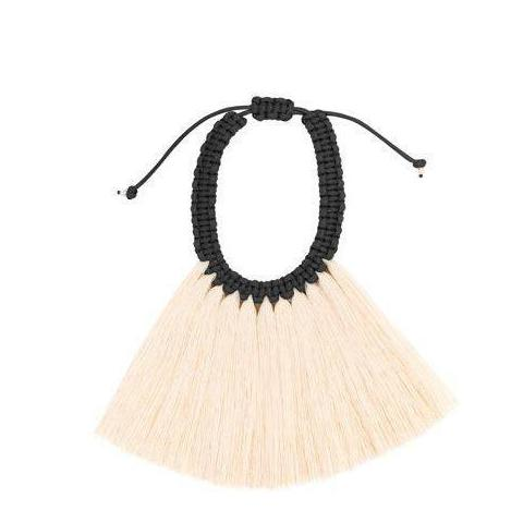 Sencilla Crin Raw Cotton Necklace