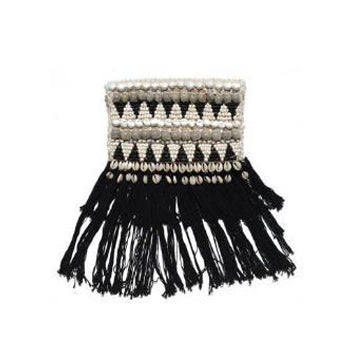 Shell and Fringe Rimba Clutch