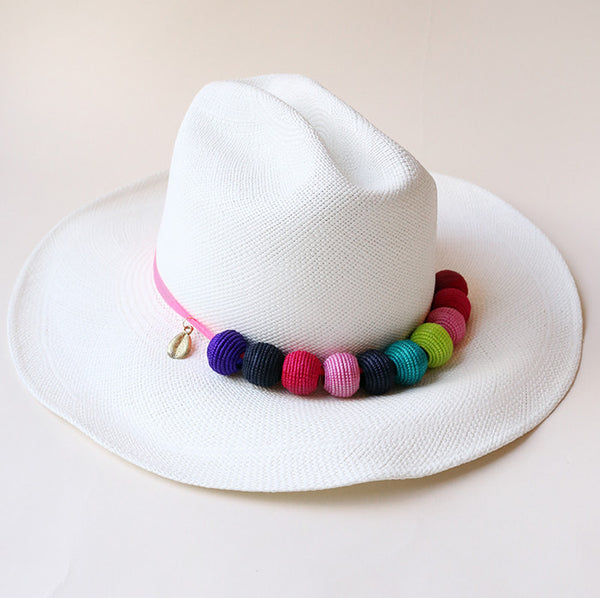 Sisal Beads Shade Panama Hat