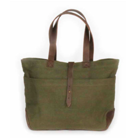 Small Green Canvas Fynn Tote