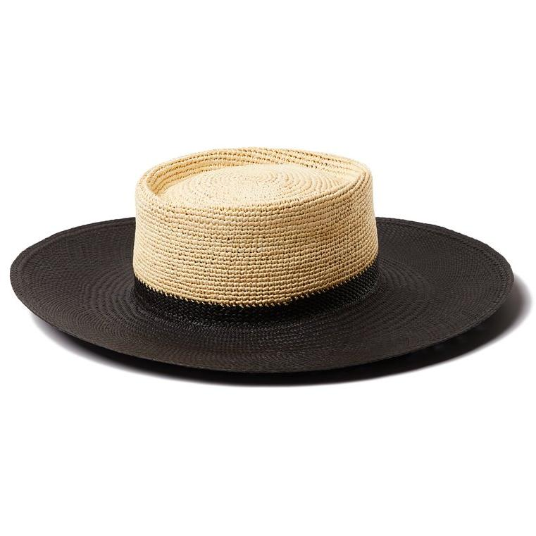 Black & Natural Straw Solana Hat