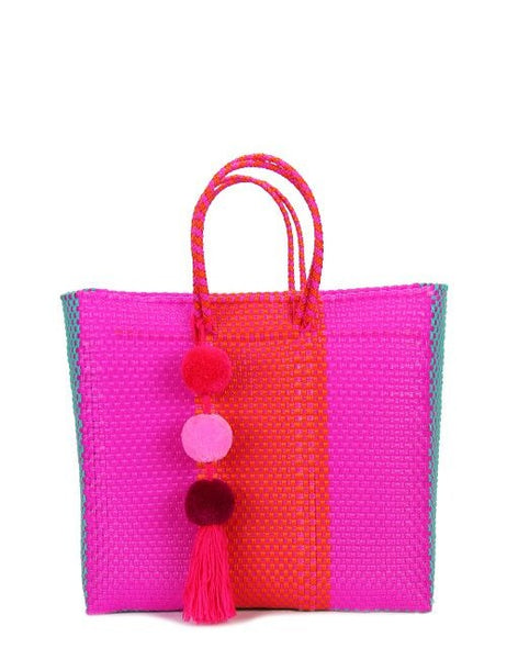 Pink Stella Medium Short Handle Tote