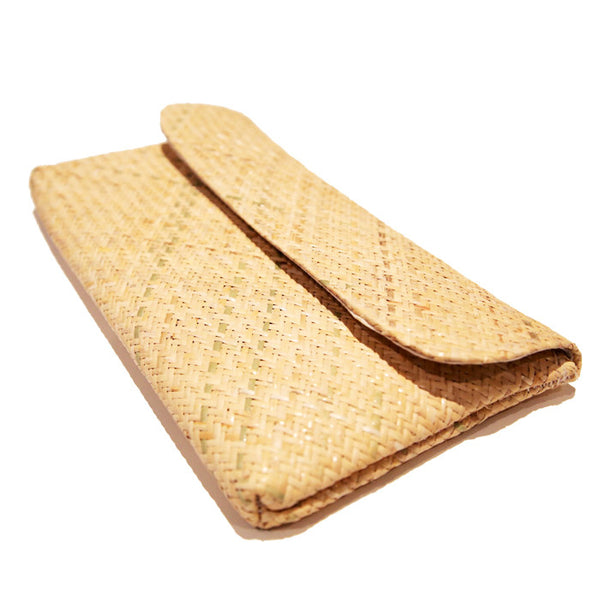 Natural Handwoven Straw Clutch