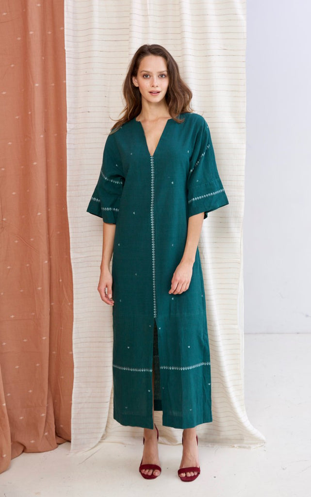 Emerald Cotton Sydney Caftan