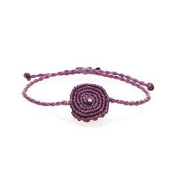 TATIANA CHOREMI, Purple String Spiral White Diamond Bracelet