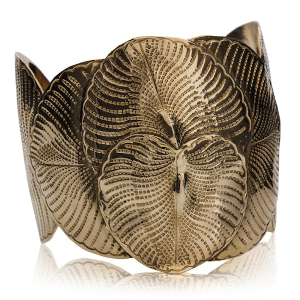 Eucalyptus Leaves Cuff - Tombac