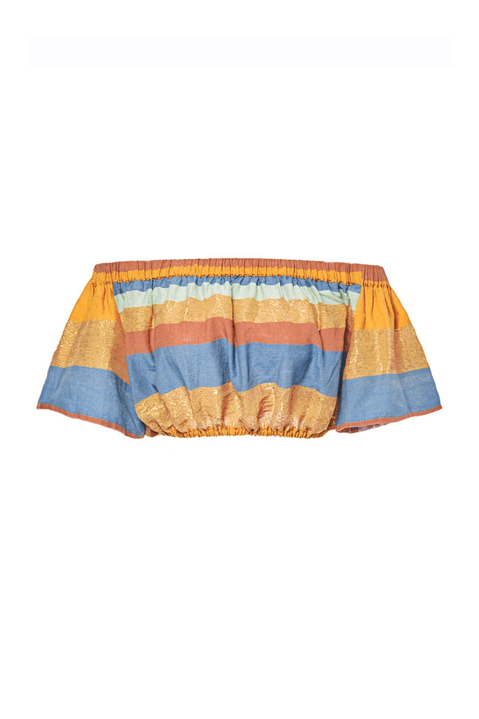 Marigold Tomar Silk Crop Top