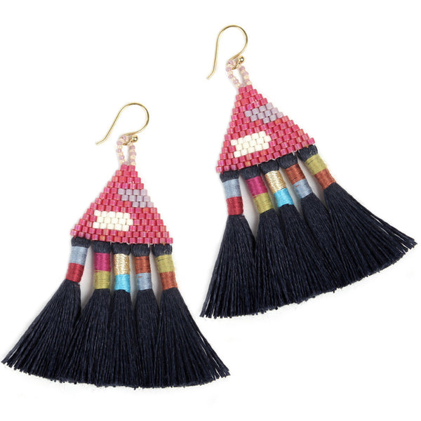 Navy Talitha Earrings