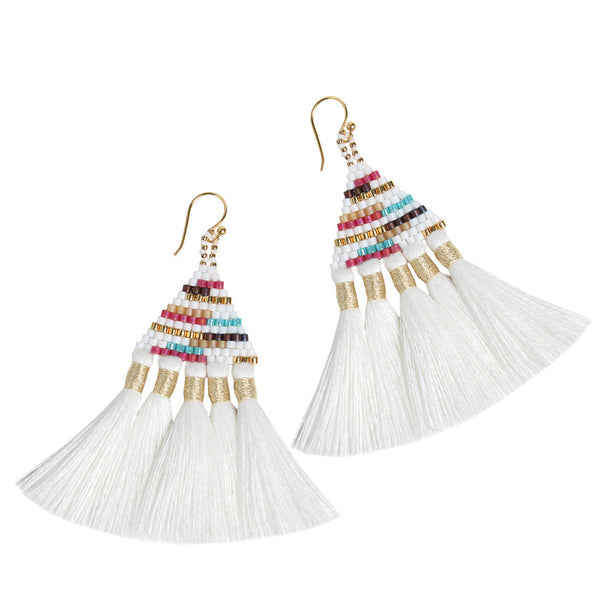 White Talitha Earrings