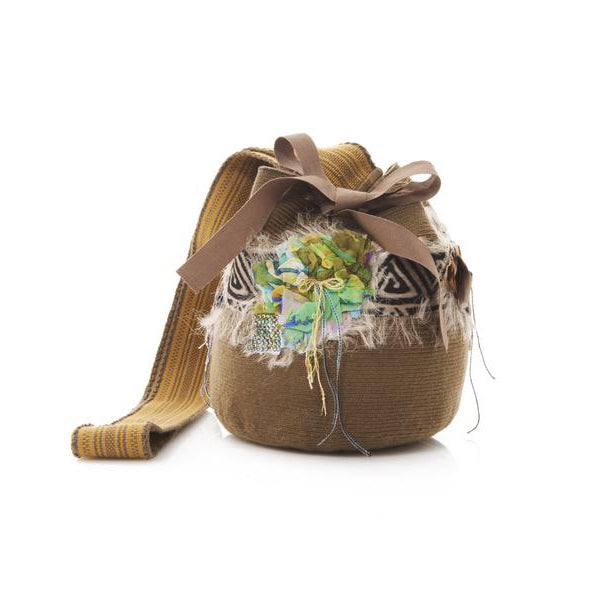 Taupe Cotton Katow Mochila Bag