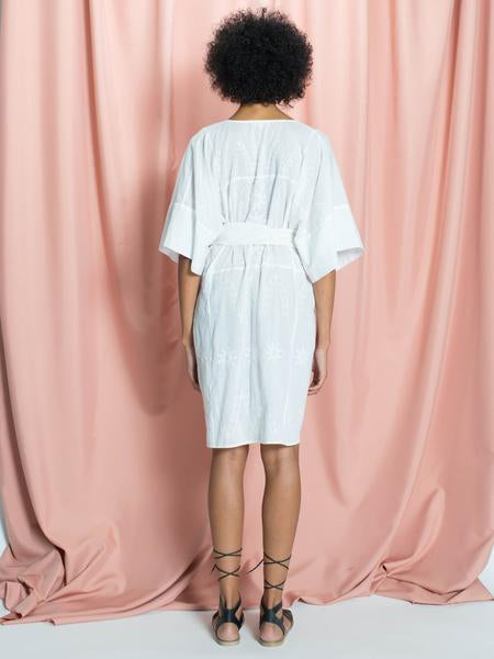 Nina Over-Sized Embroidered Cotton Caftan