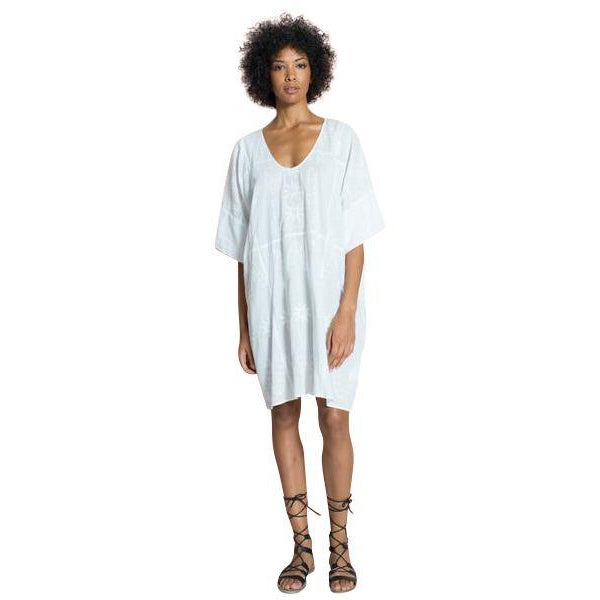 The Nina Over-Sized Embroidered Cotton Caftan