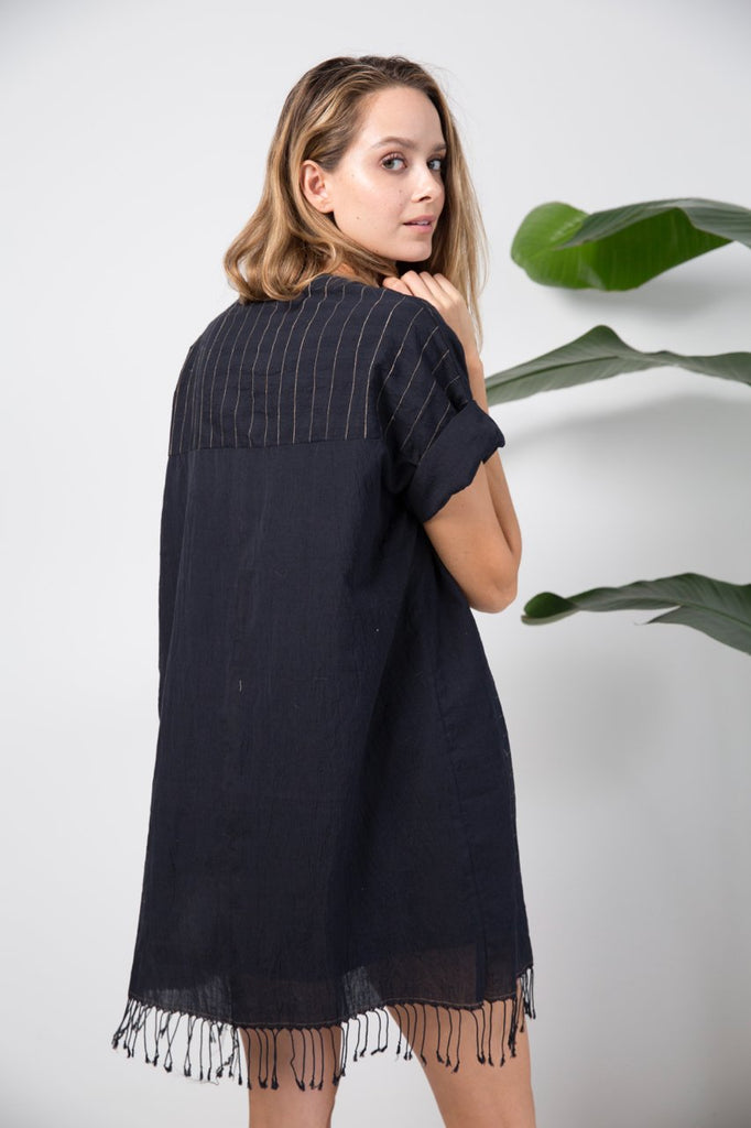 Tulum Fringed Cotton Caftan