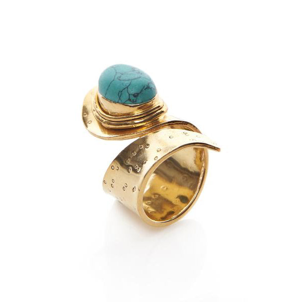 Turquoise Indian Wrap Ring