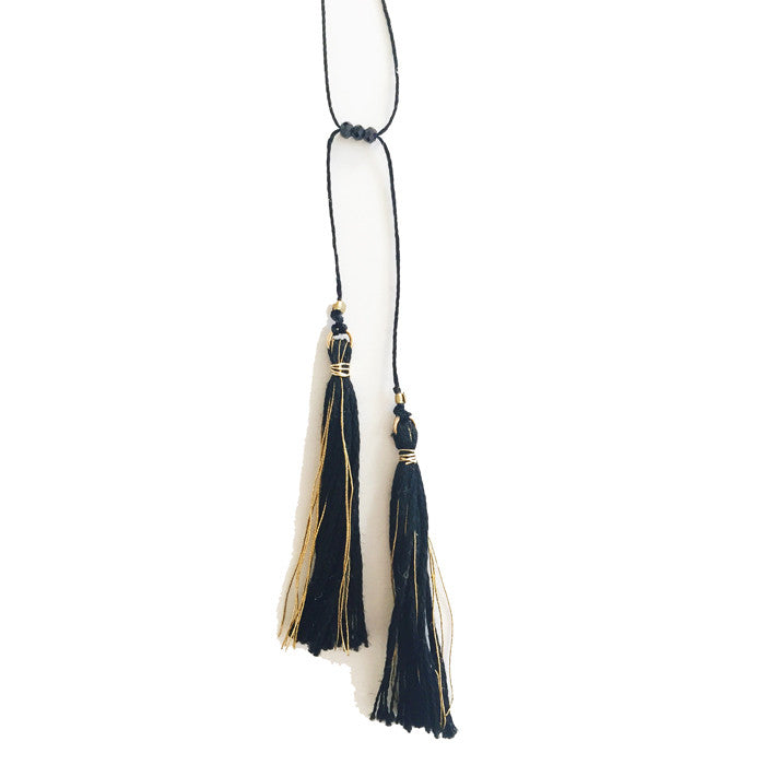 Two Tassel Adjustable Necklace
